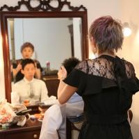 美容師の妹様がセットを♡