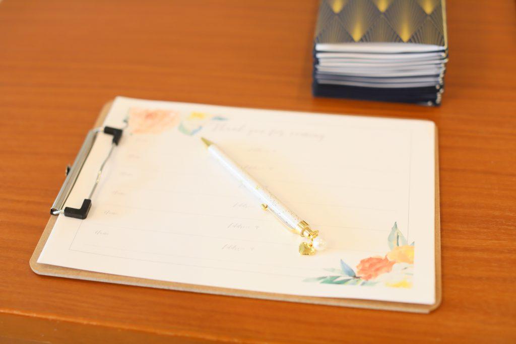 かわいい芳名帳♡