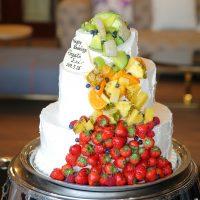 フルーツの流れるカラフルケーキ♡