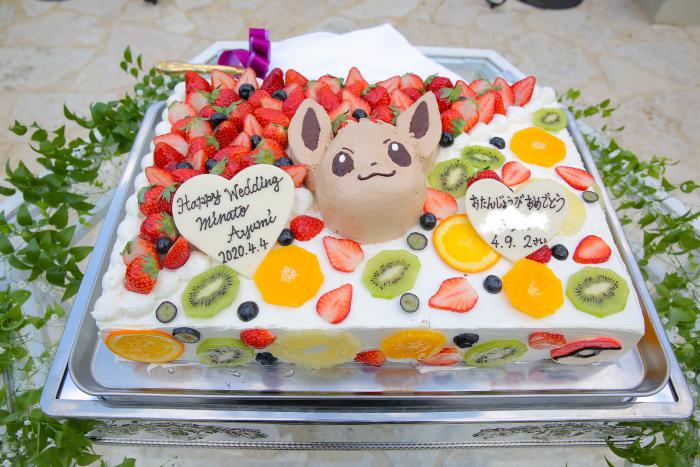 イーブイウェディングケーキ♡