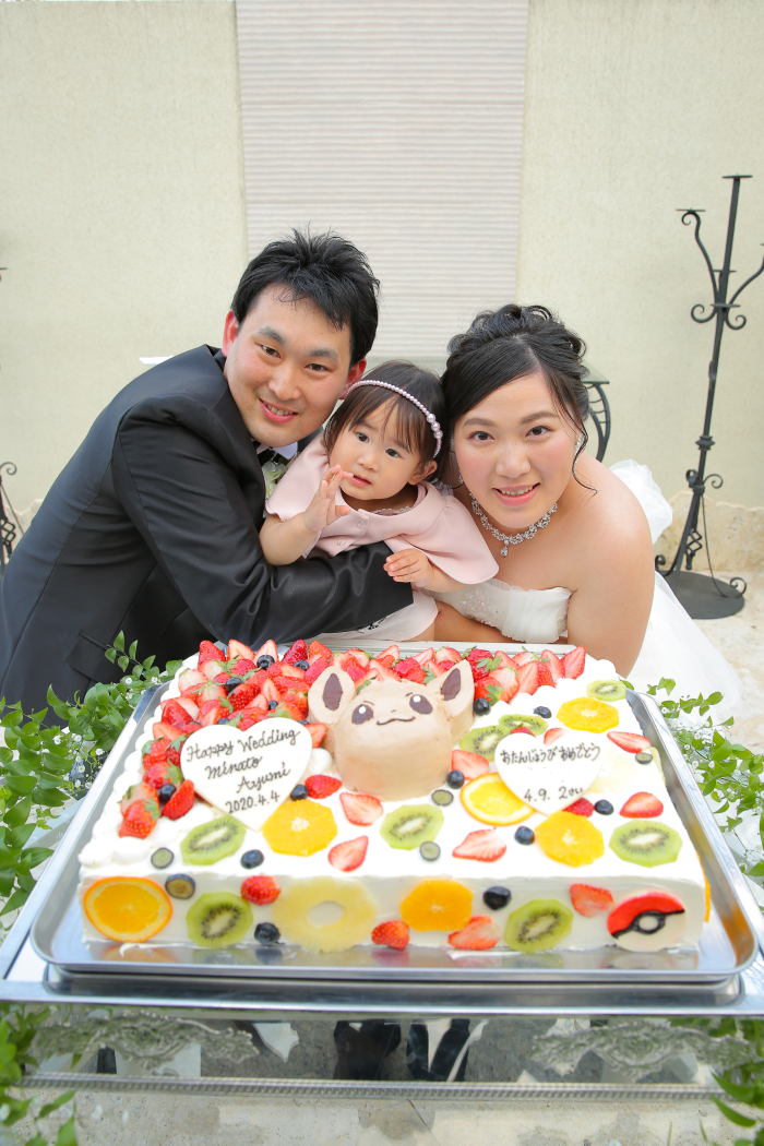 大好きなイーブイのケーキと記念撮影♡