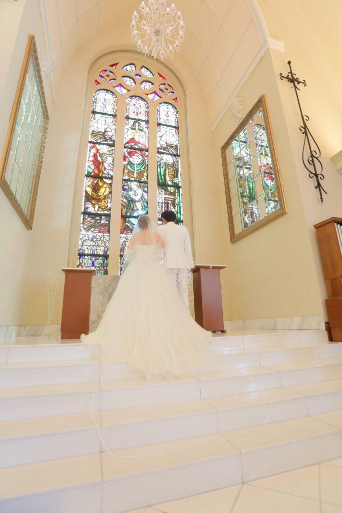 花嫁様が着られたドレスは総シルクで作られた特別なドレス♪